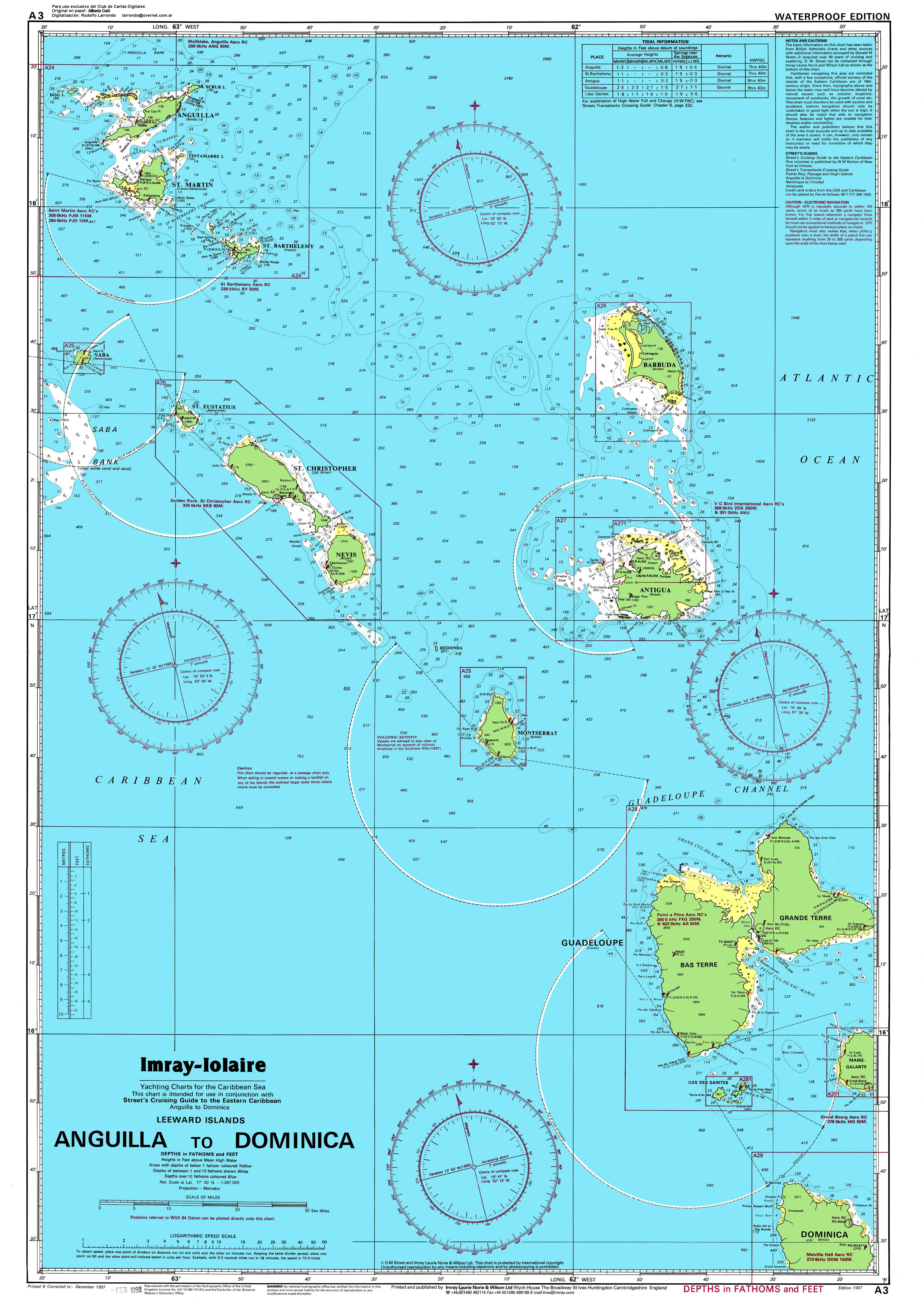 Large Detailed Political And Topographical Map Of Anguilla - Physical map of dominica