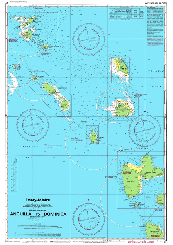 Large detailed political and topographical map of Anguilla, Dominica.