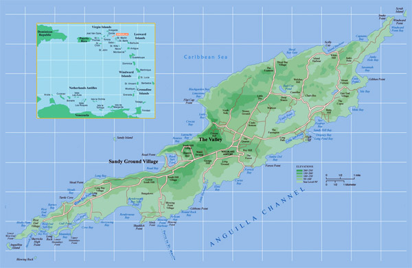 Large detailed political map of Anguilla. Anguilla large detailed political map.