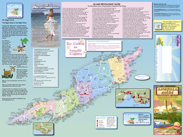 Large detailed tourist map of Anguilla. Anguilla large detailed tourist map.