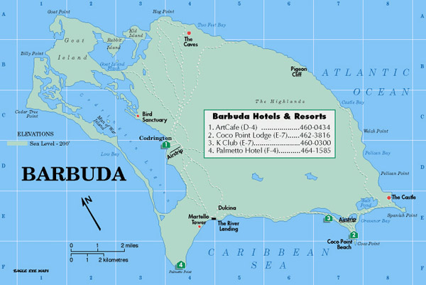 Detailed map of Barbuda. Barbuda detailed map.