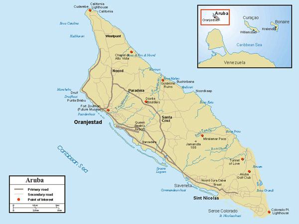 Detailed road map of aruba aruba detailed road map vidiani detailed road map of aruba aruba detailed road map publicscrutiny Choice Image