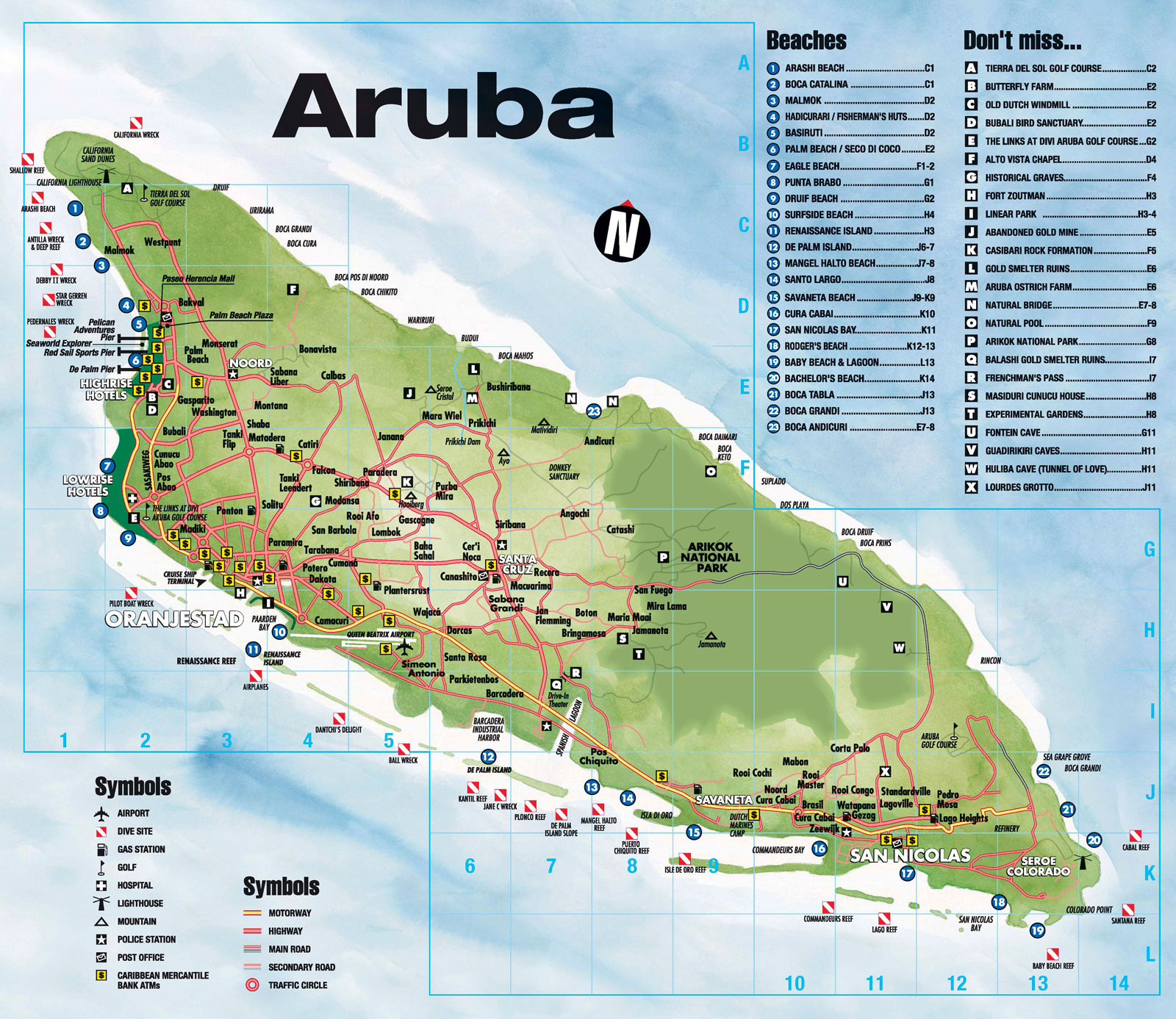 Tourist map of aruba aruba tourist map vidiani maps of all tourist map of aruba aruba tourist map publicscrutiny Choice Image