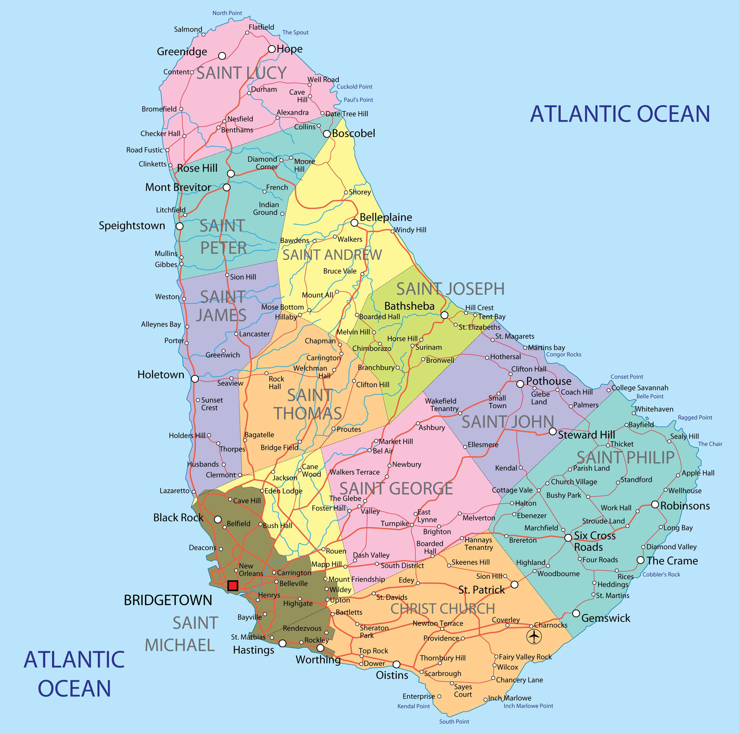 Large detailed administrative map of barbados barbados large large detailed administrative map of barbados barbados large detailed administrative map publicscrutiny Choice Image