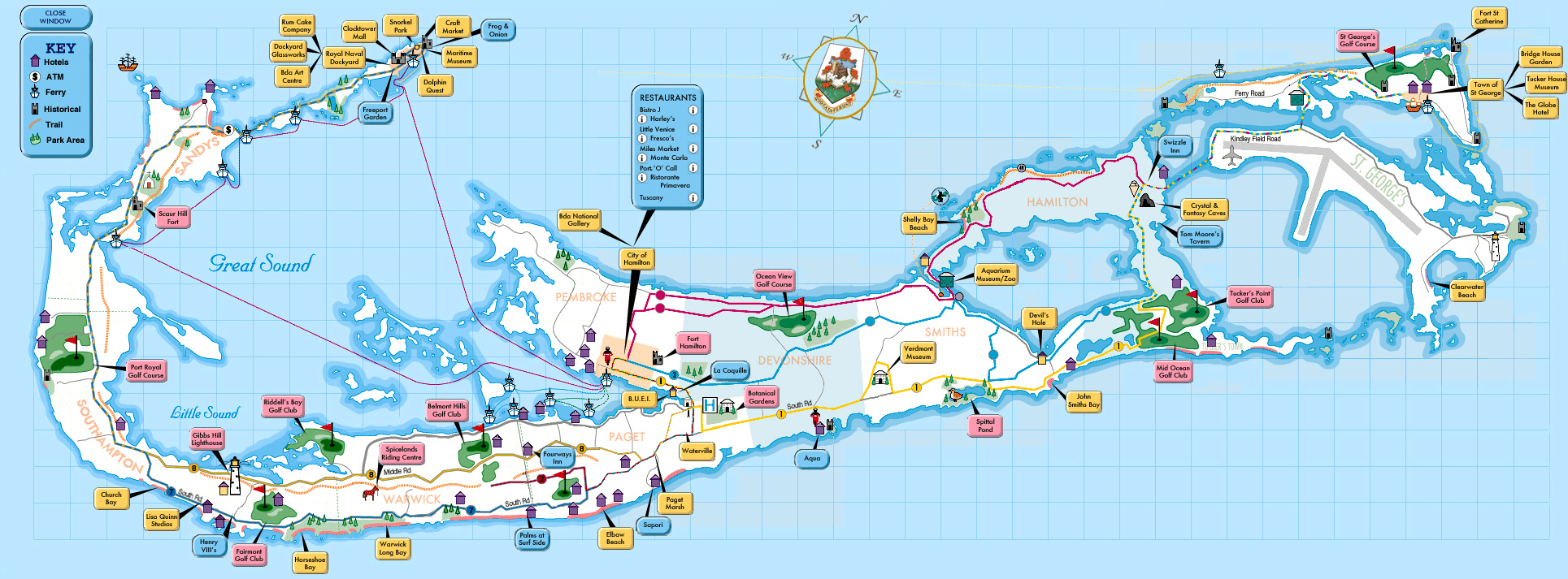 Large detailed tourist map of Bermuda. Bermuda large detailed ...