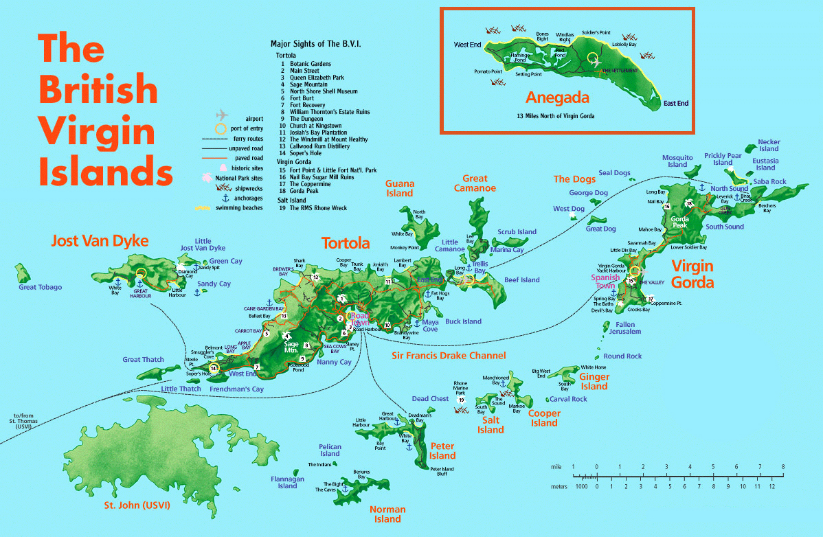 Map Of Virgin Islands Us And British: British Virgin Islands Map ...