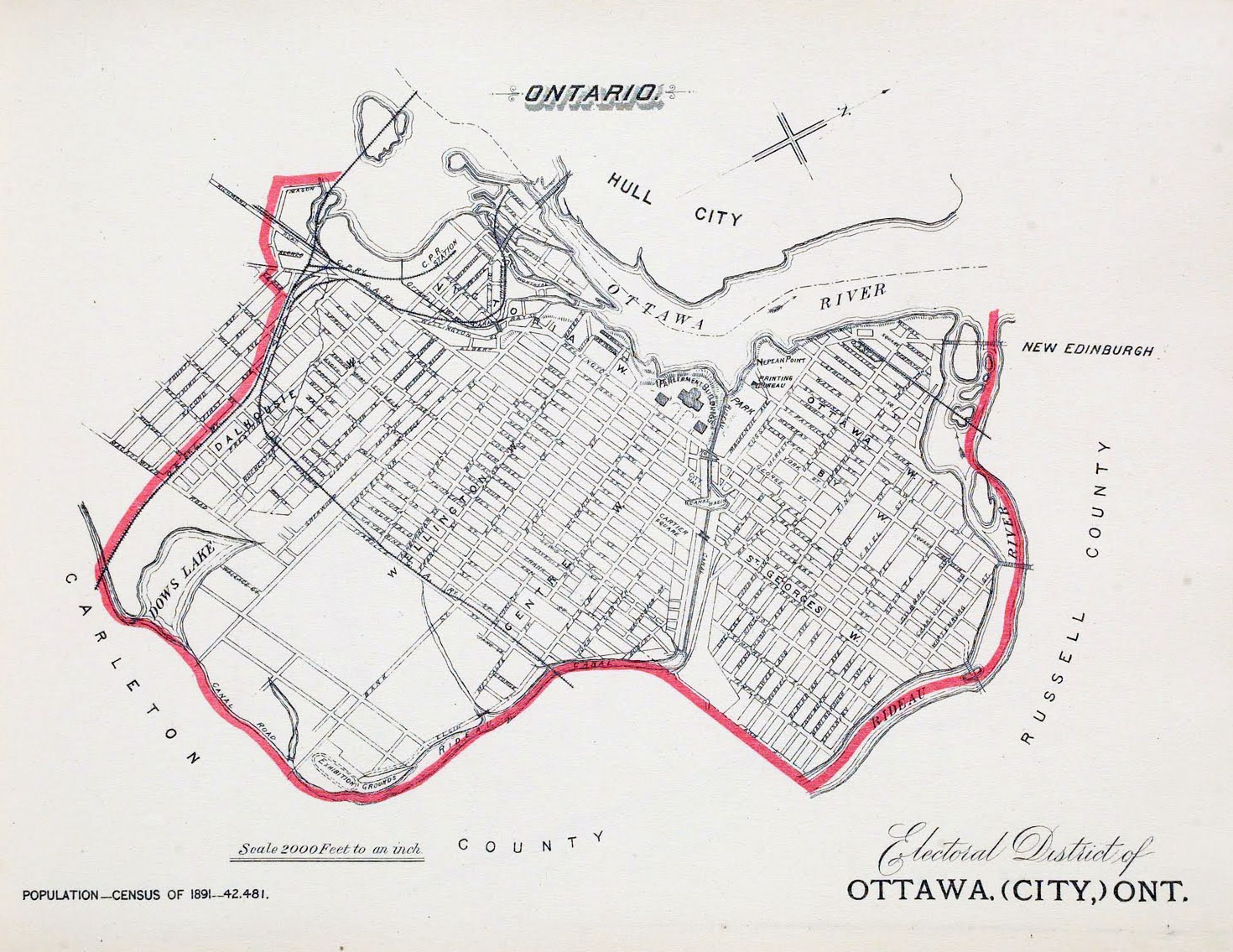 Large detailed old map of Ottawa 1895 Ottawa large detailed old