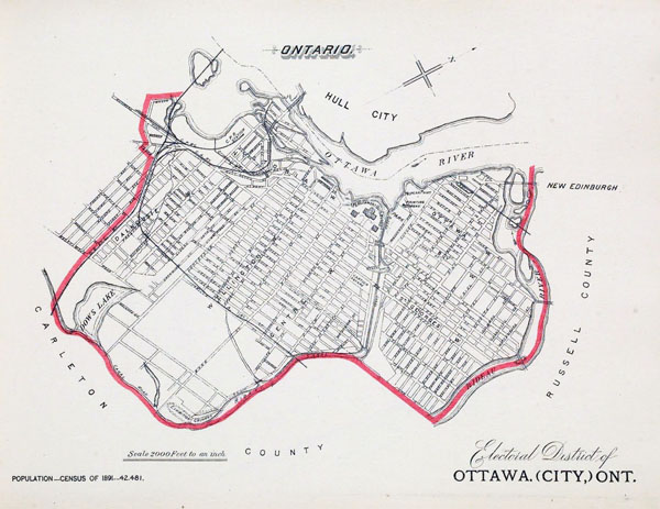 Ottawa large detailed old map - 1895. Map of Ottawa.