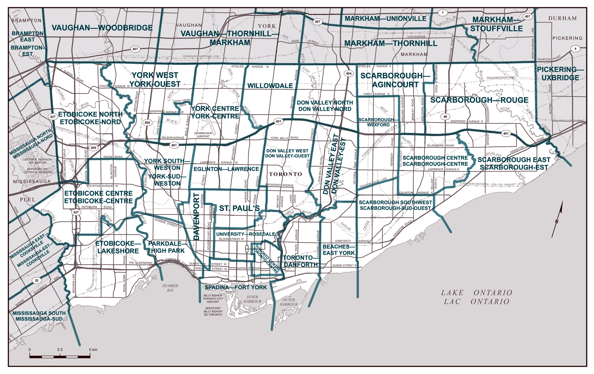 Large detailed road map of Toronto city Toronto large detailed – Roadmap of
