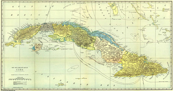 Large detailed map of Cuba 1906. Cuba large detailed map of 1906.