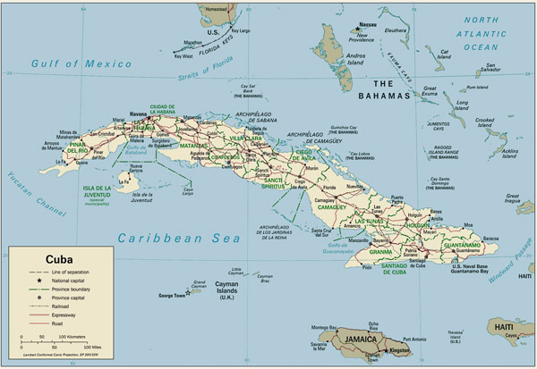 Large detailed political map of Cuba. Cuba large detailed political map.