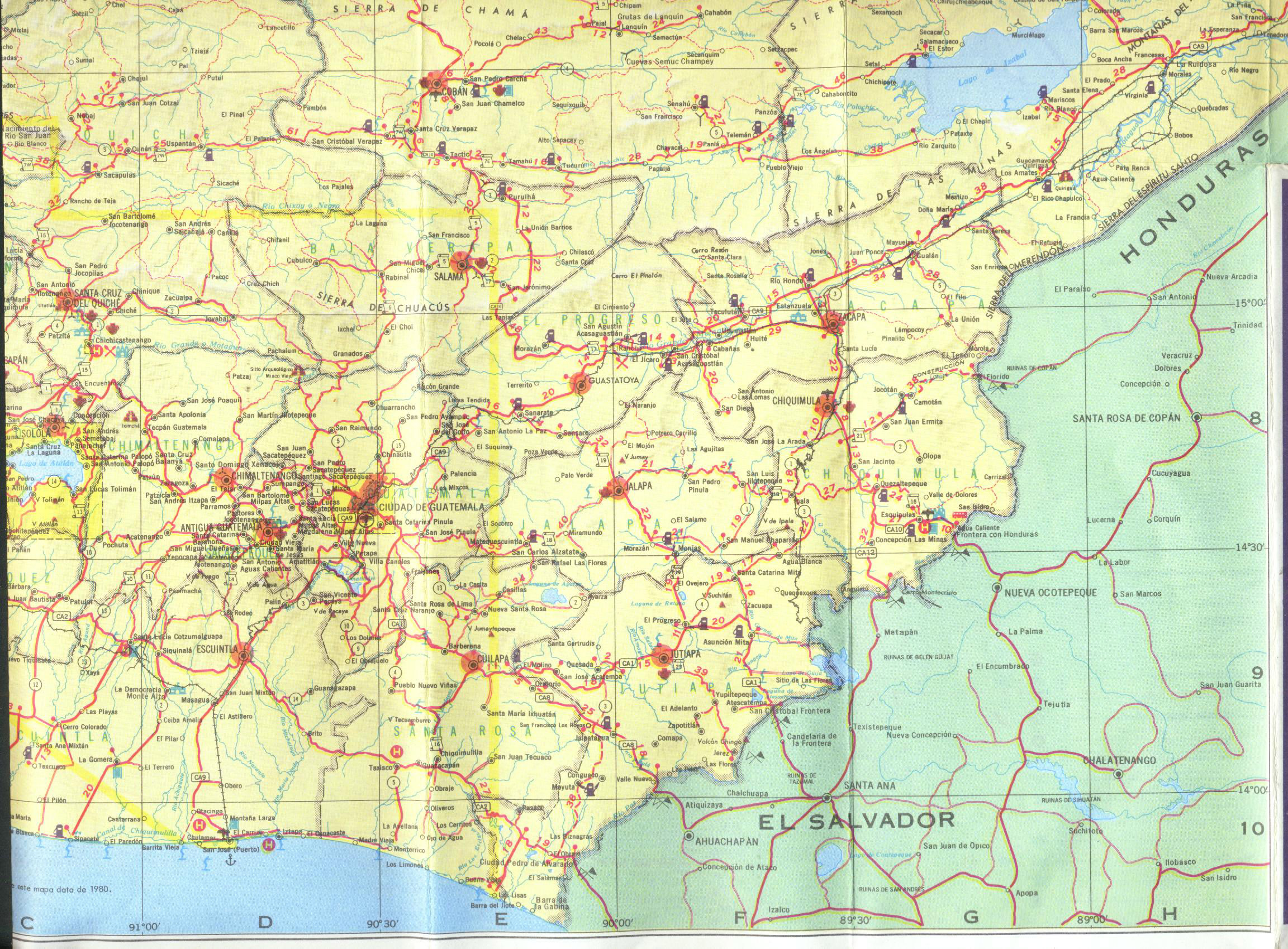 Shell Highway Map Northeastern Section Of The United States US