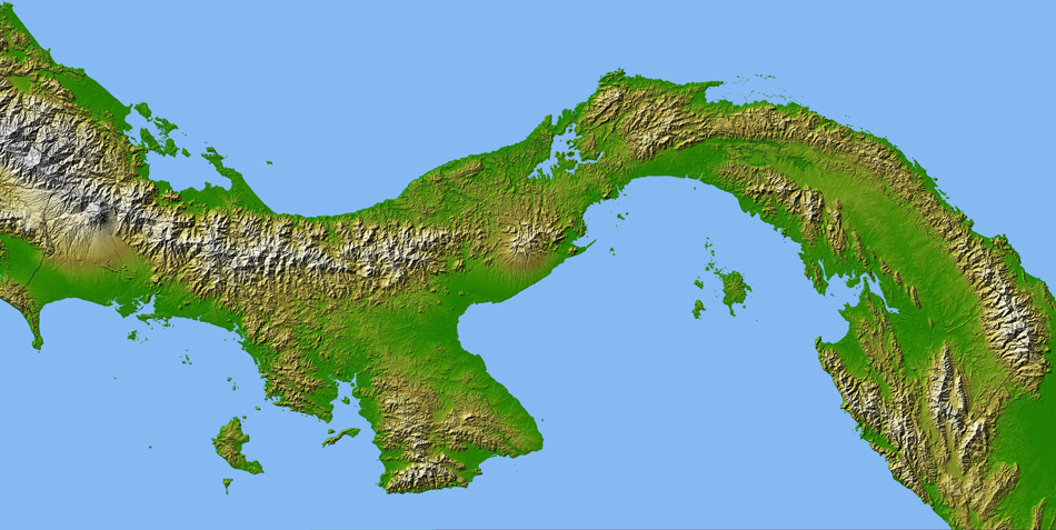 Detailed satellite map of Panama Panama detailed satellite map