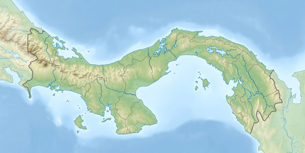 Large detailed relief location map of Panama.