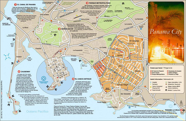 Panama city detailed road map. Detailed road map of Panama city.