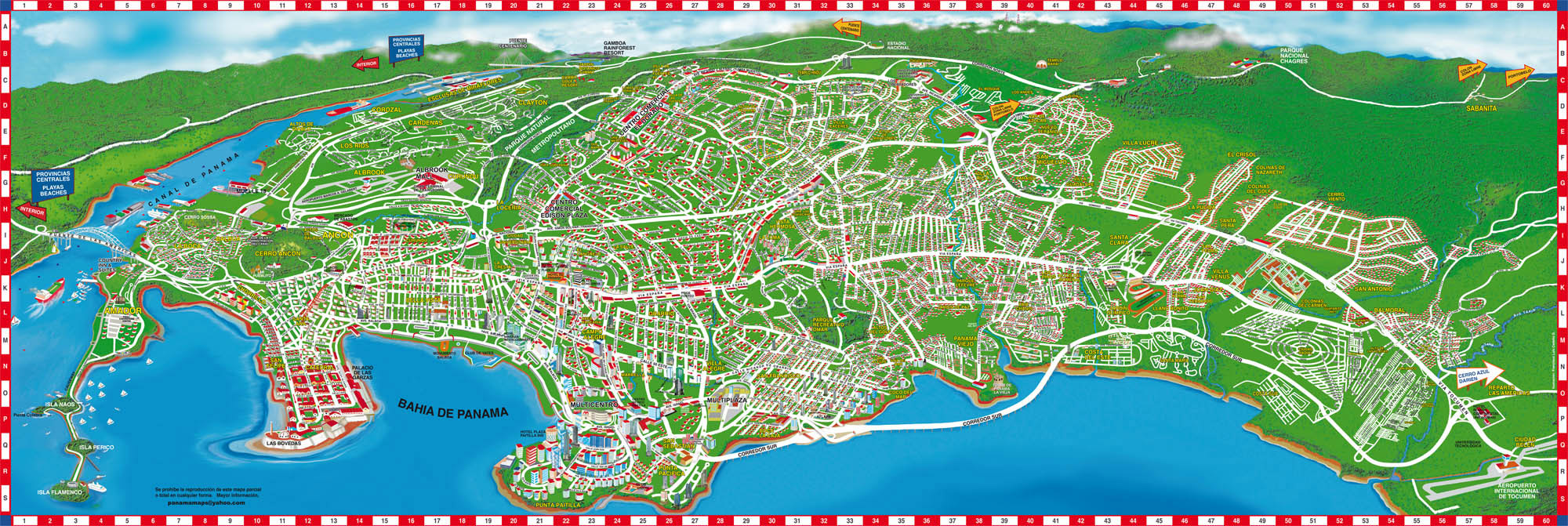 maps update panama city tourist map panama maps mappery