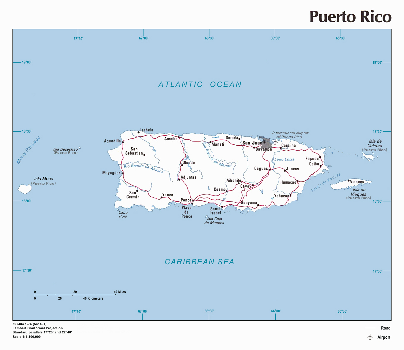 Detailed Political Map Of Puerto Rico Puerto Rico Detailed