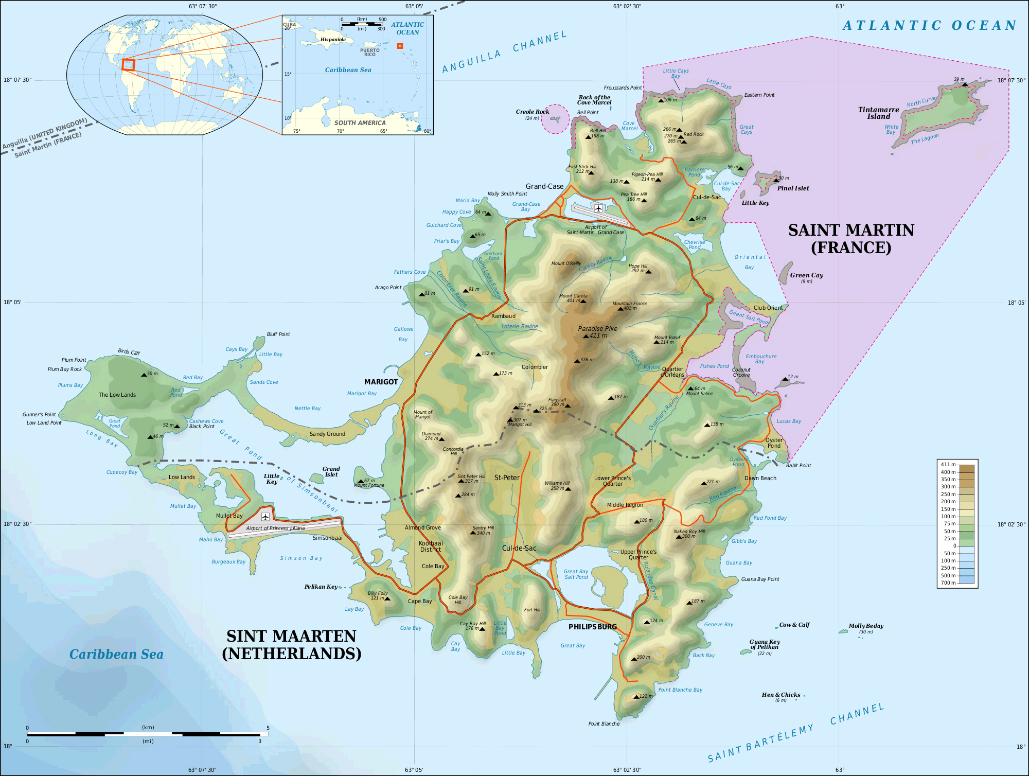 what country is st maarten island in