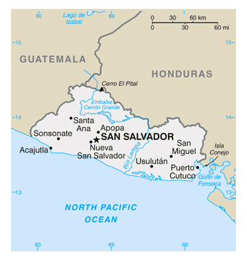 Map of Salvador. Salvador map.