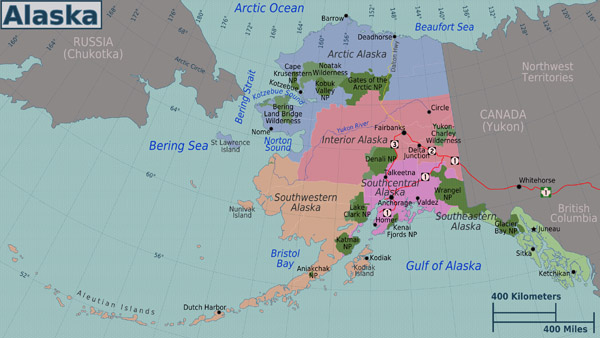 Large administrative map of Alaska state.
