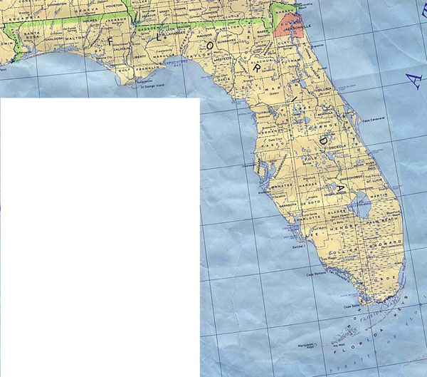 Detailed map of Florida. Florida detailed map.