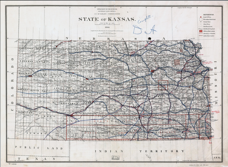 Old Kansas Map.Large Detailed Old Railroads Map Of Kansas State Kansas State Large