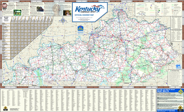 Large detailed highways map of Kentucky state with all cities and national parks.