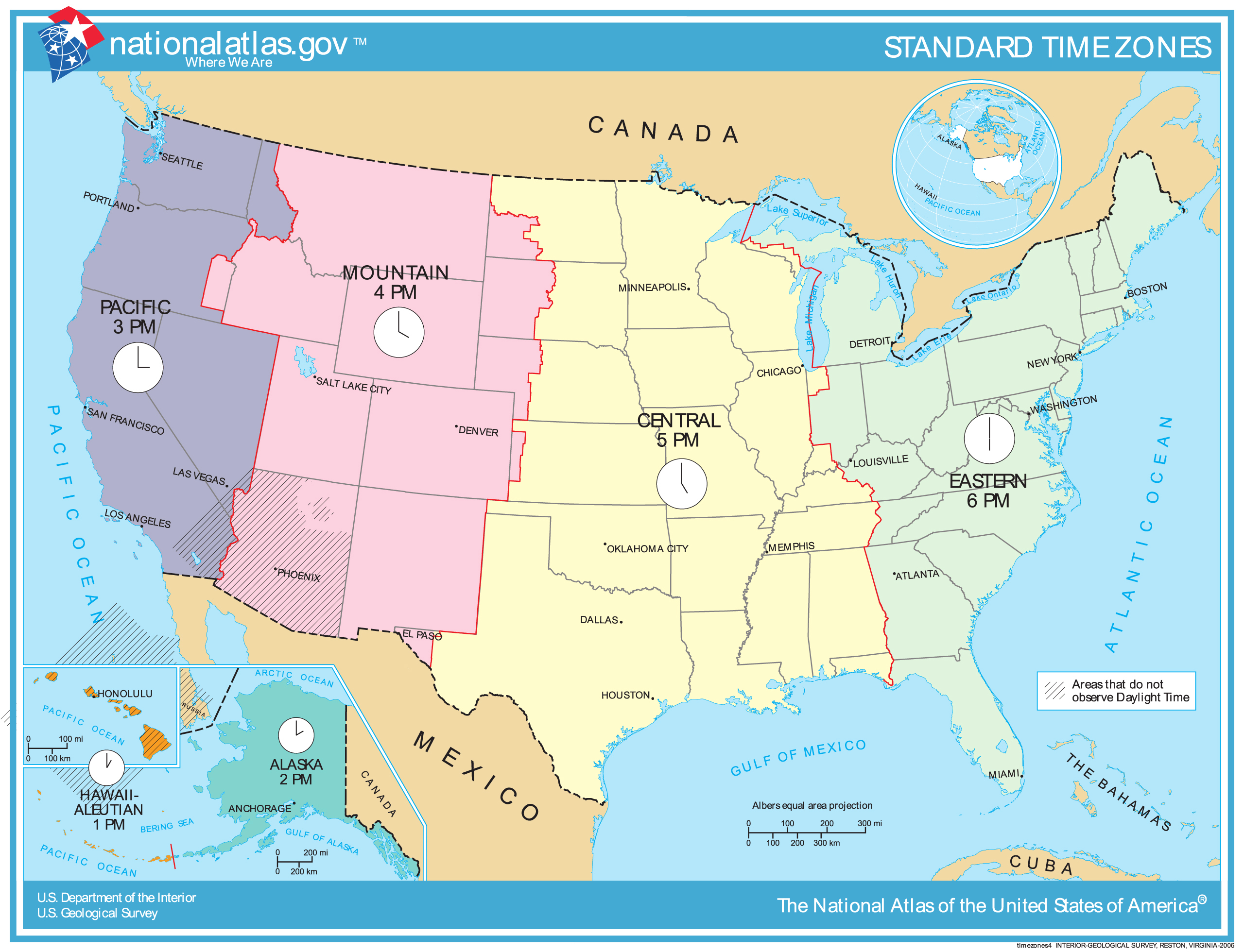 Map Of Usa Time Zones With Cities Images Map Of Us Time - Map and cities of us