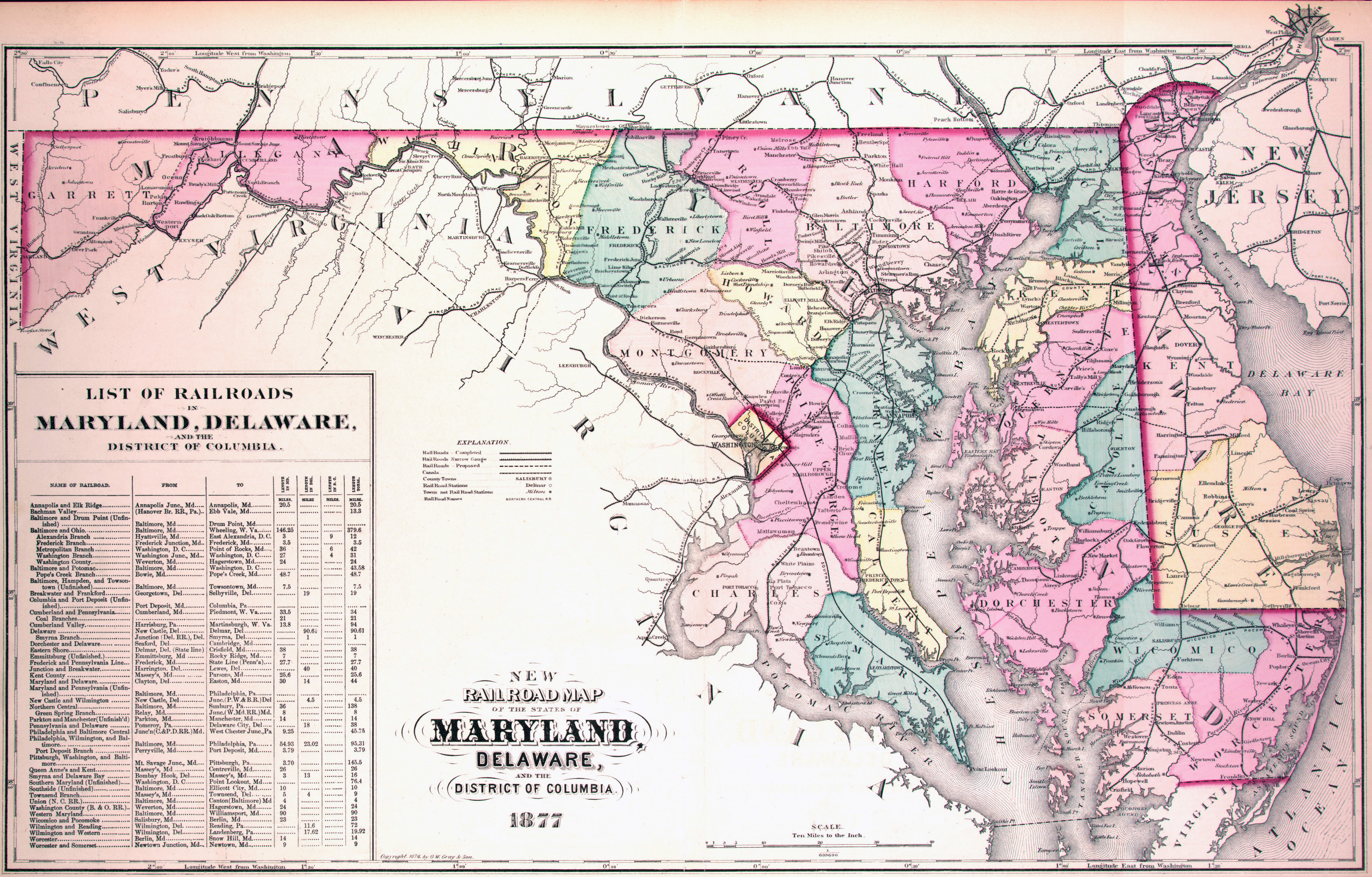 Image Gallery Large Map Of Maryland
