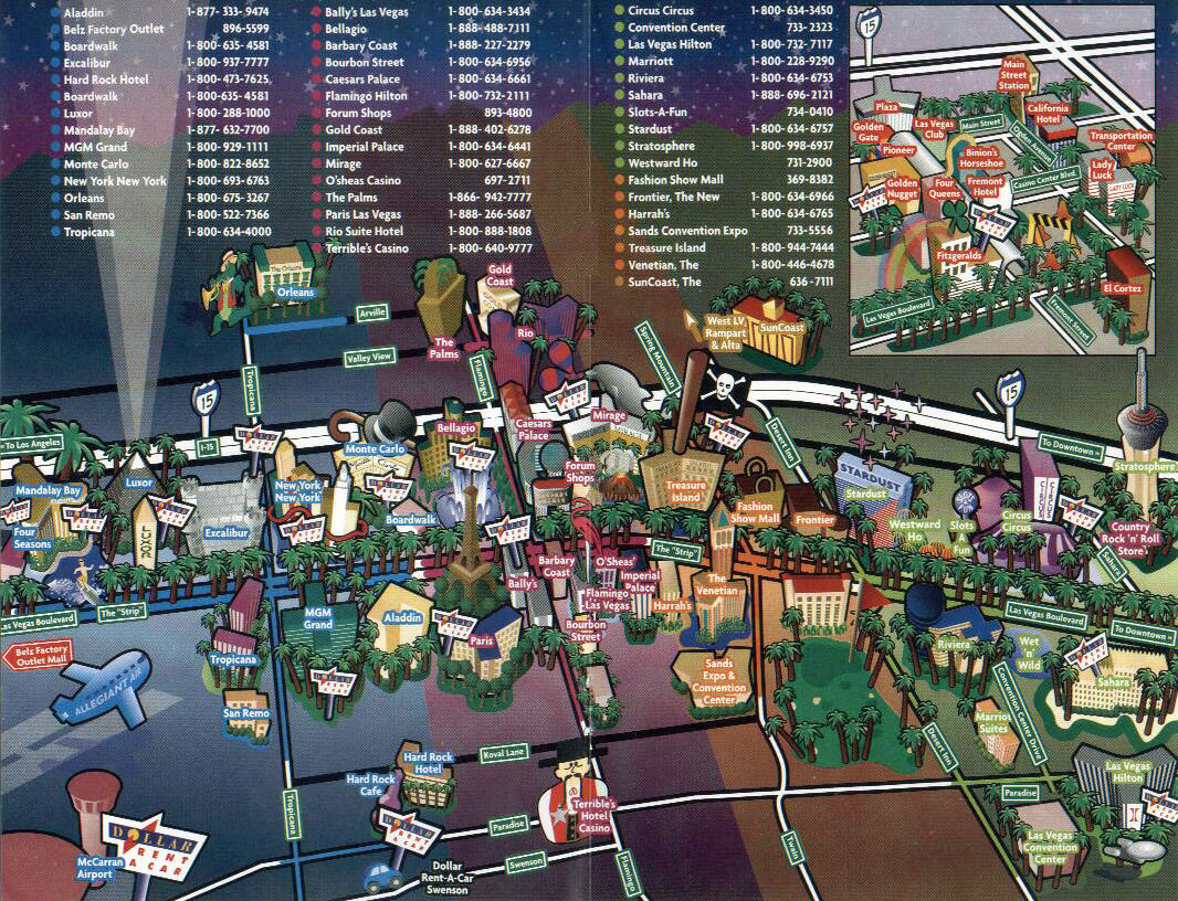 Las Vegas Tourist Map Map World HD – Tourist Map Of Las Vegas
