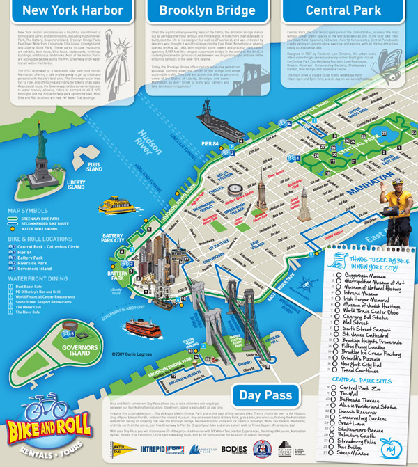 Large detailed alternative New York city tourist map.