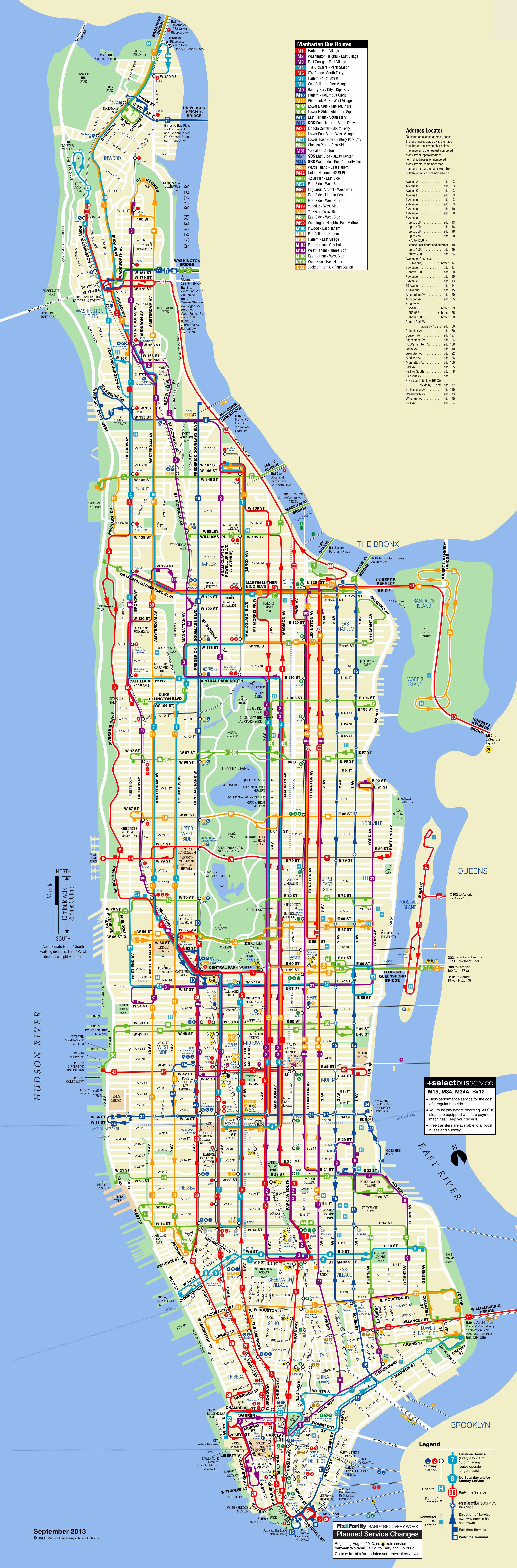 Large scaled detailed bus routes map of Manhattan NYC ... on map layout, map distortion, grid reference, geographic information system, map of united states of america, map of florida, contour line, geographic coordinate system, linear scale, map of australia with cities, universal transverse mercator coordinate system, map of va, map grid, map distance, aerial photography, map legend, map symbols, compass rose, map key, map projection, map series, map area, map of texas, map skills, history of cartography, cartographic relief depiction, map tools, map boundaries, map features, spatial analysis, map region,
