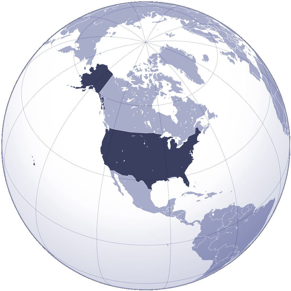 The United States Location On World Map Location Of The United - World map of the united states