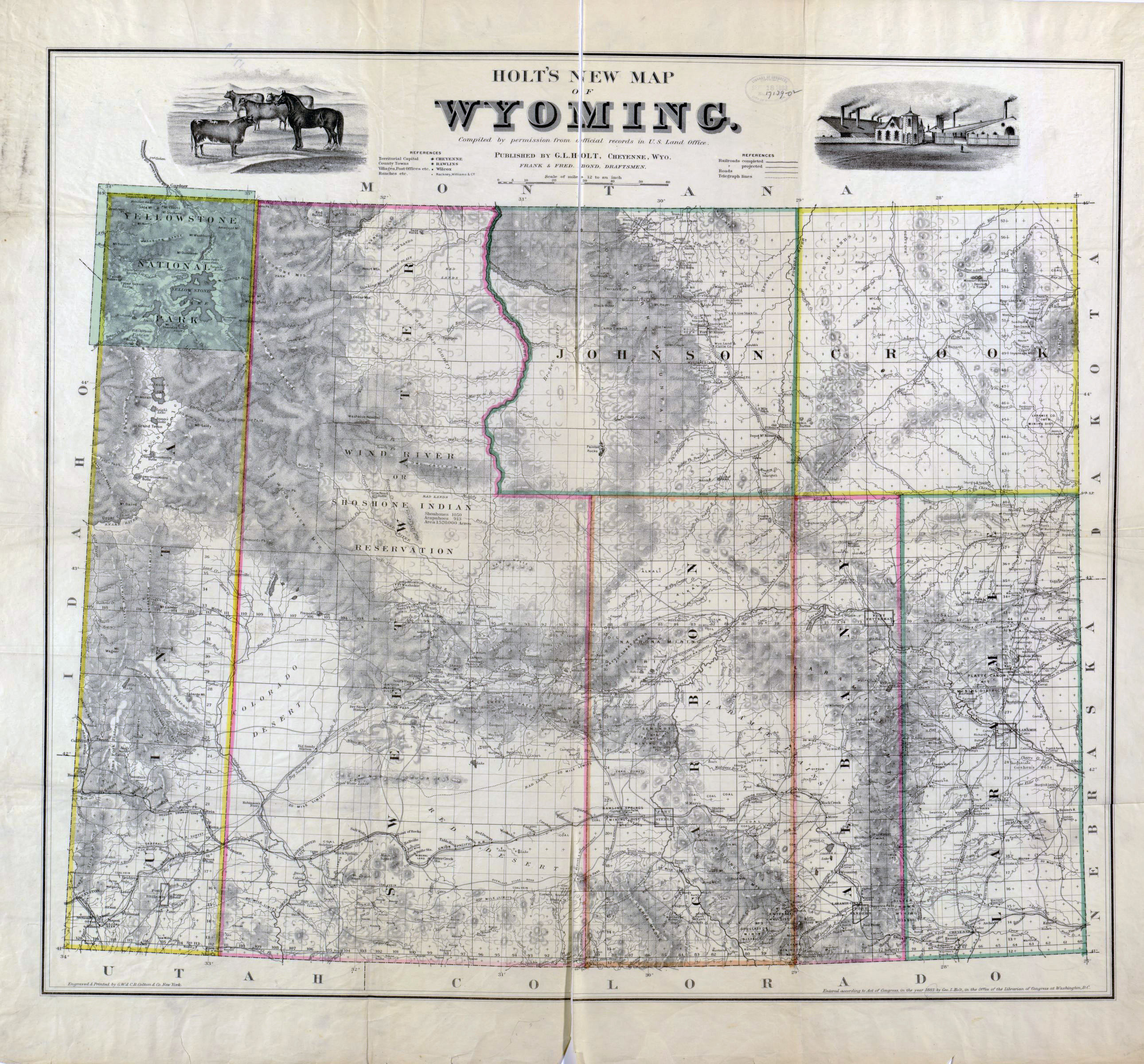 Detailed Map Of Wyoming on