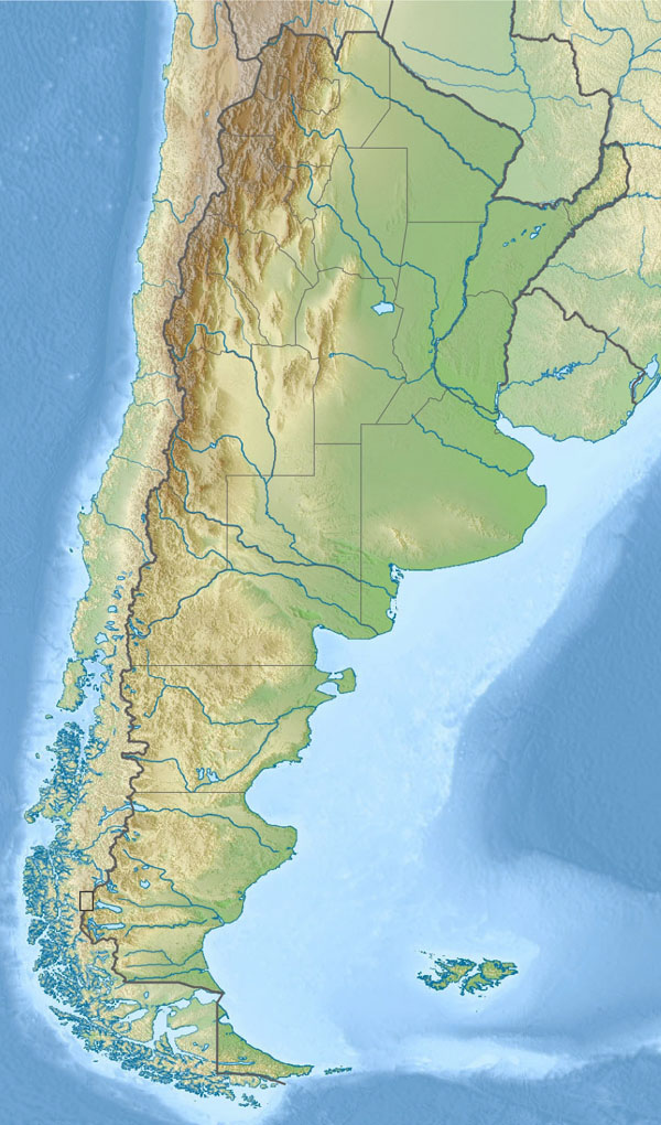 Large relief map of Argentina. Argentina large relief map.