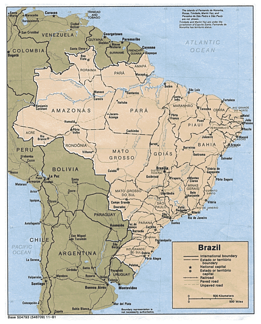 Detailed Political Map Of Brazil With All Cities Brazil Detailed - Political map of brazil