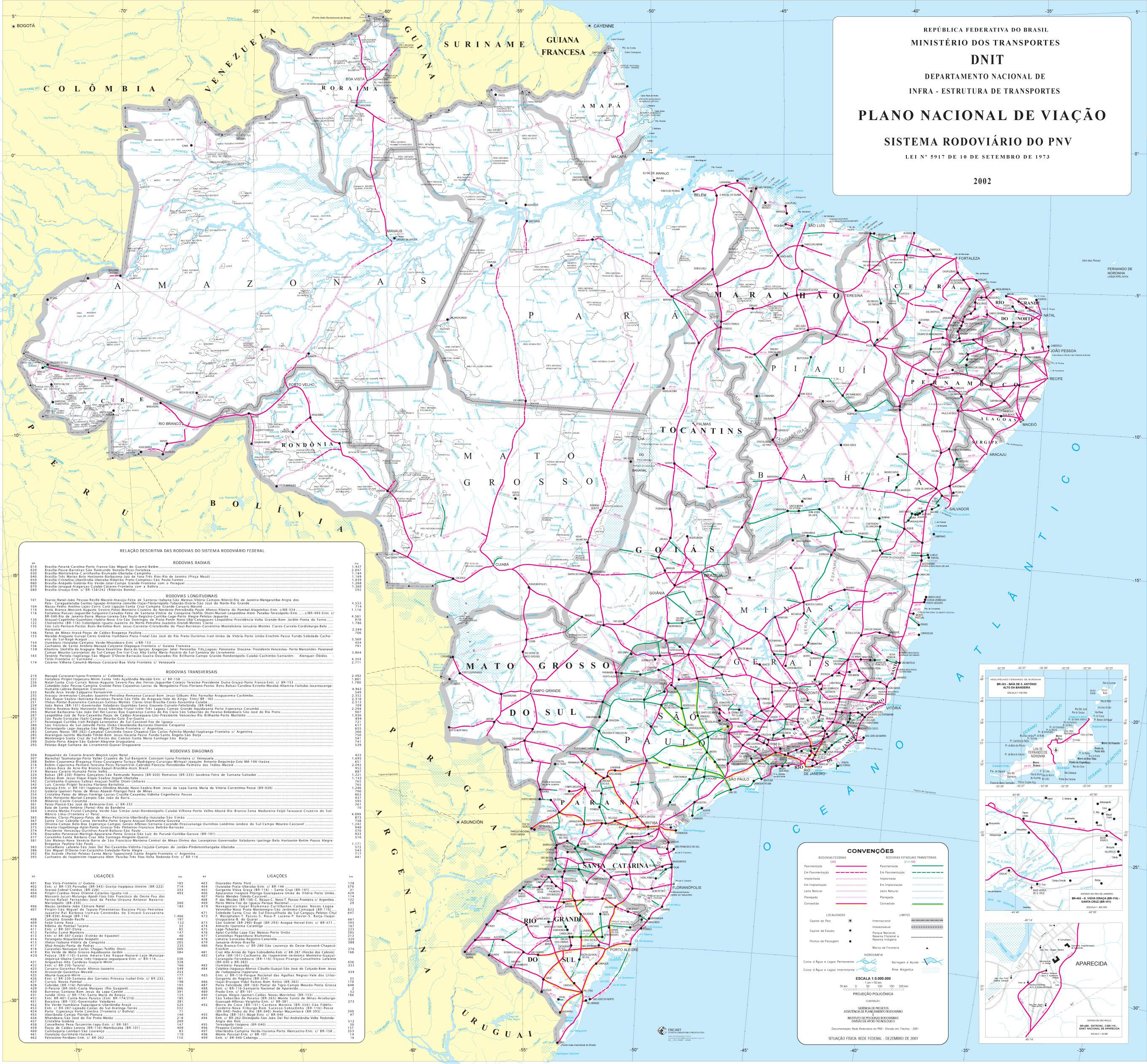 Large detailed road map of Brazil Brazil large detailed road map – Roadmap of