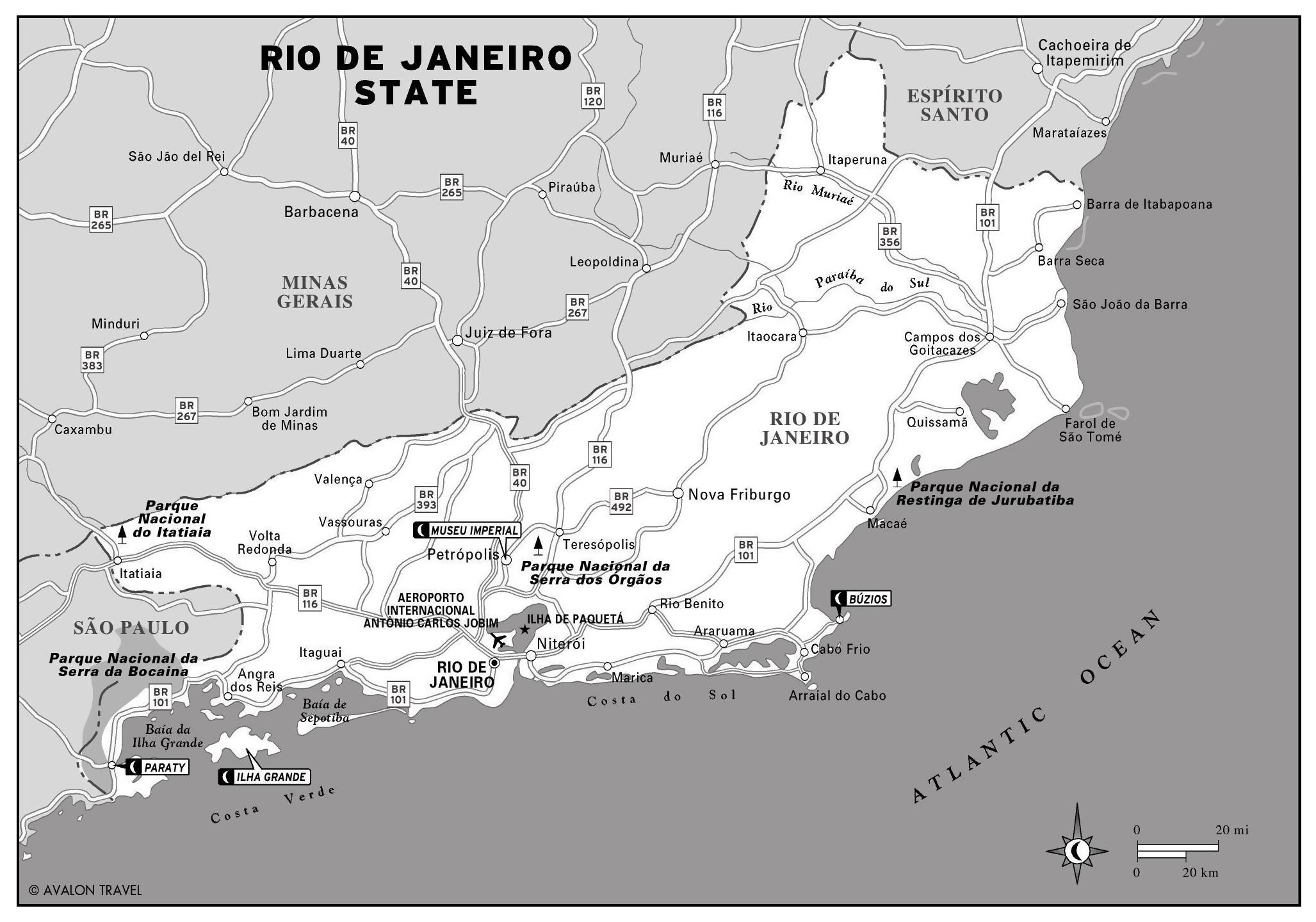 Large detailed map of Rio de Janeiro state | Vidiani.com | Maps of ...