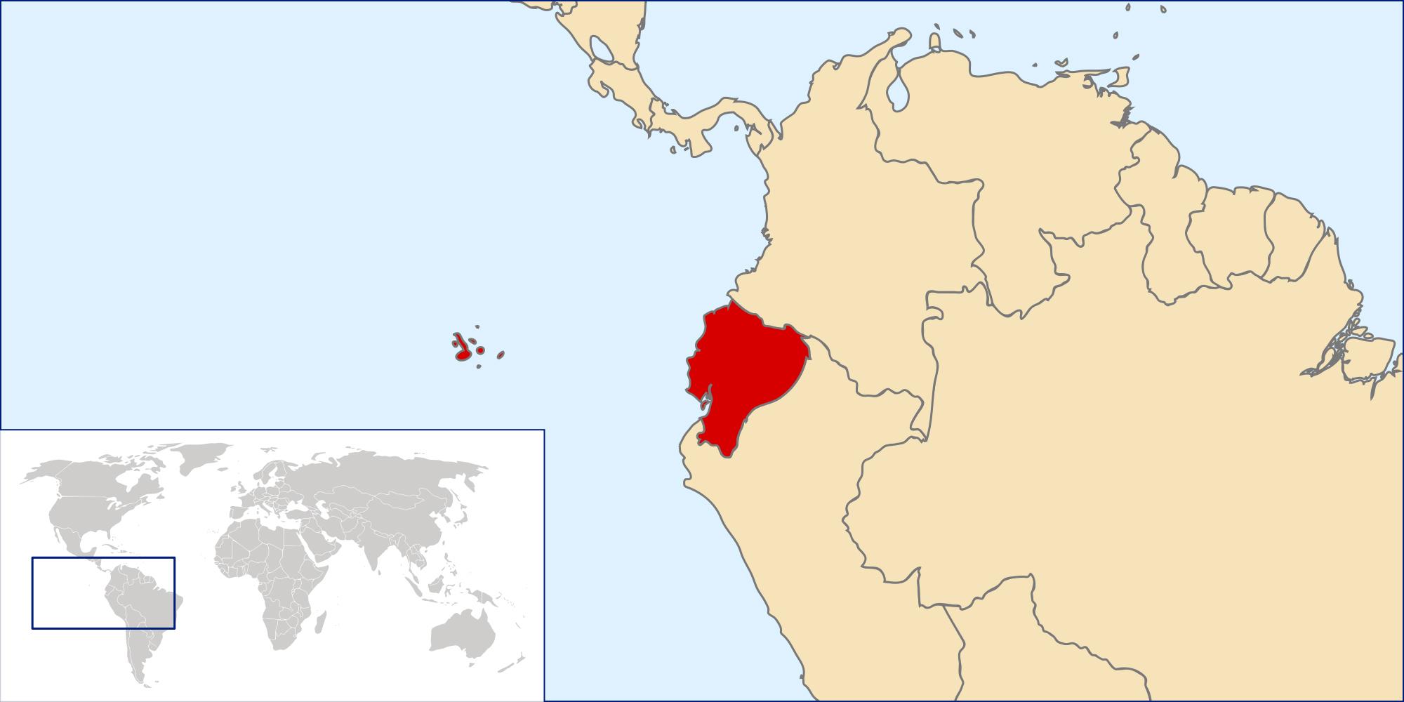 Location Of Ecuador On World Map.Ecuador Location Map Map Of Ecuador Location Vidiani Com Maps