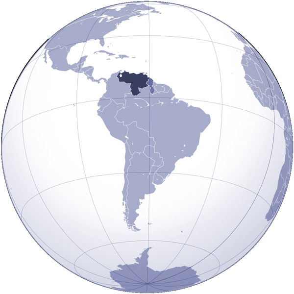 Large detailed location map of Venezuela. Venezuela large detailed location map.