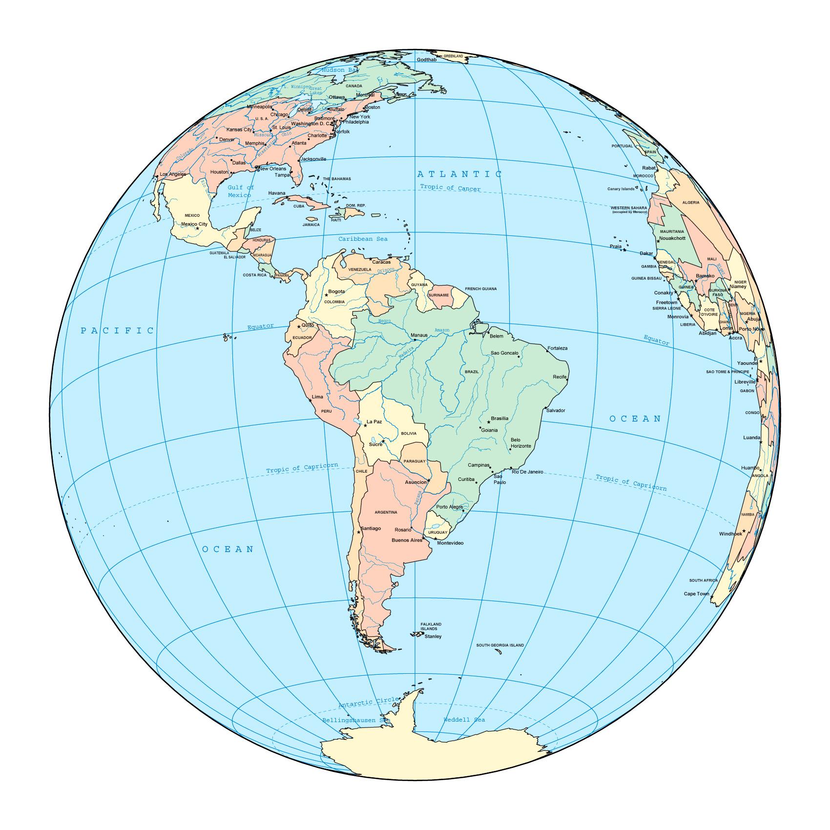 класс География Материки Южная Америка Географическое  Площадь