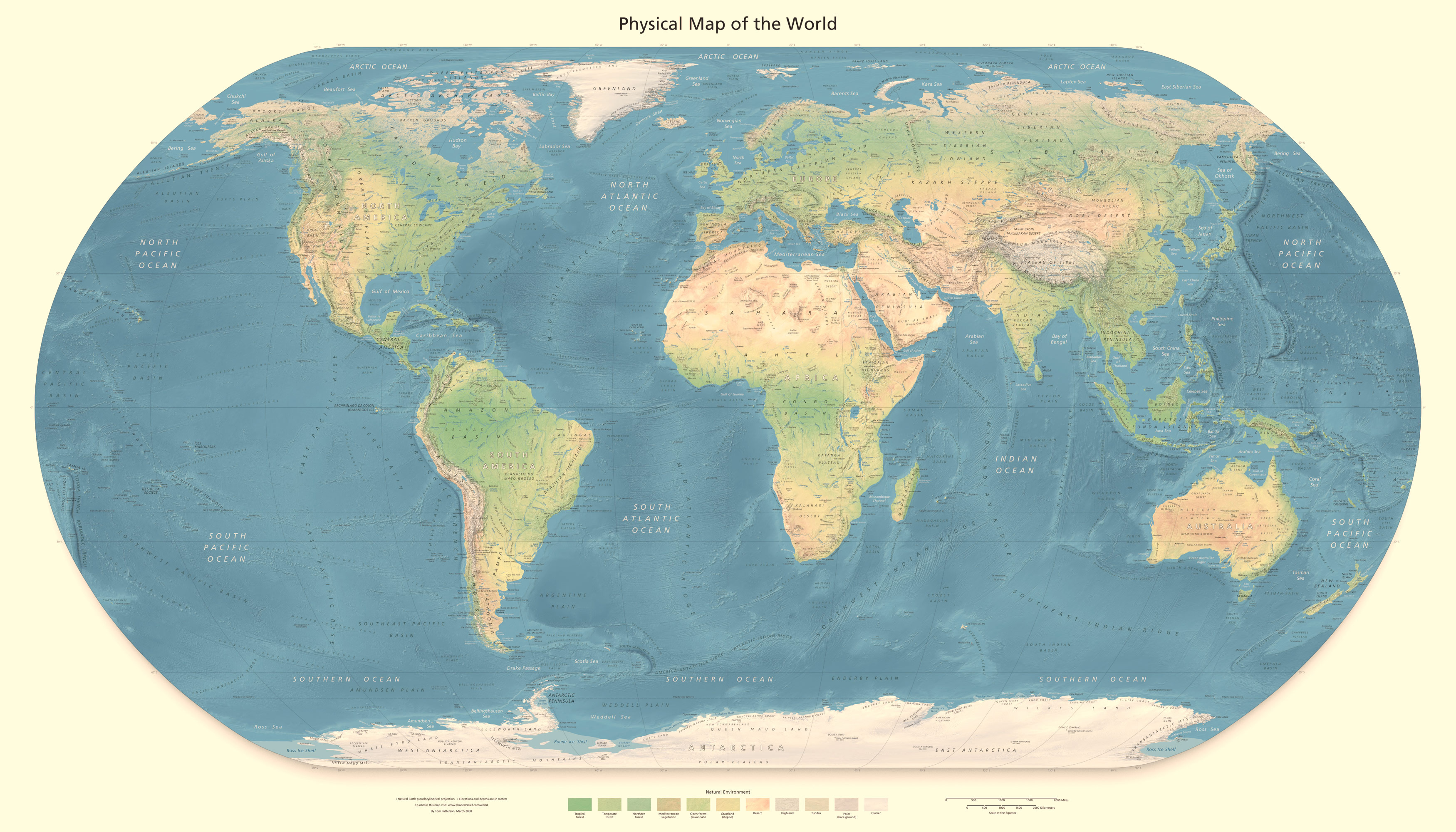 Detailed physical map of the world detailed physical world map detailed physical map of the world detailed physical world map gumiabroncs Choice Image