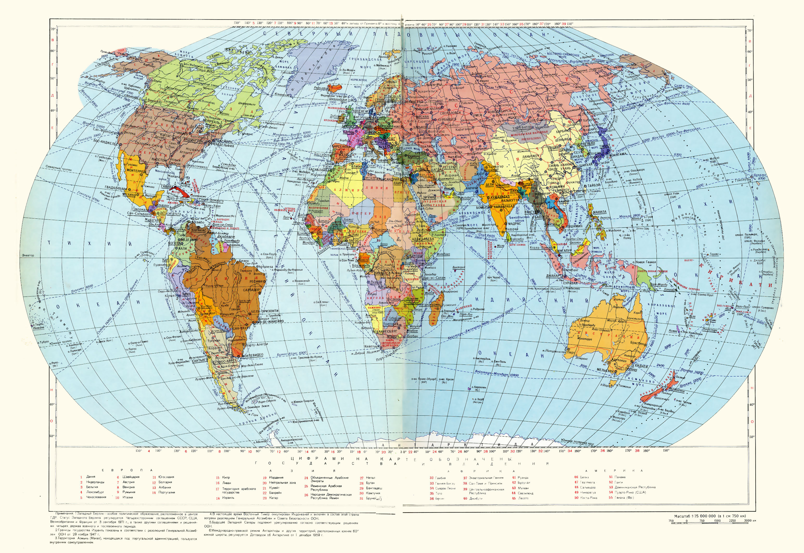 Large detailed political map of the World since Soviet times. Large ...
