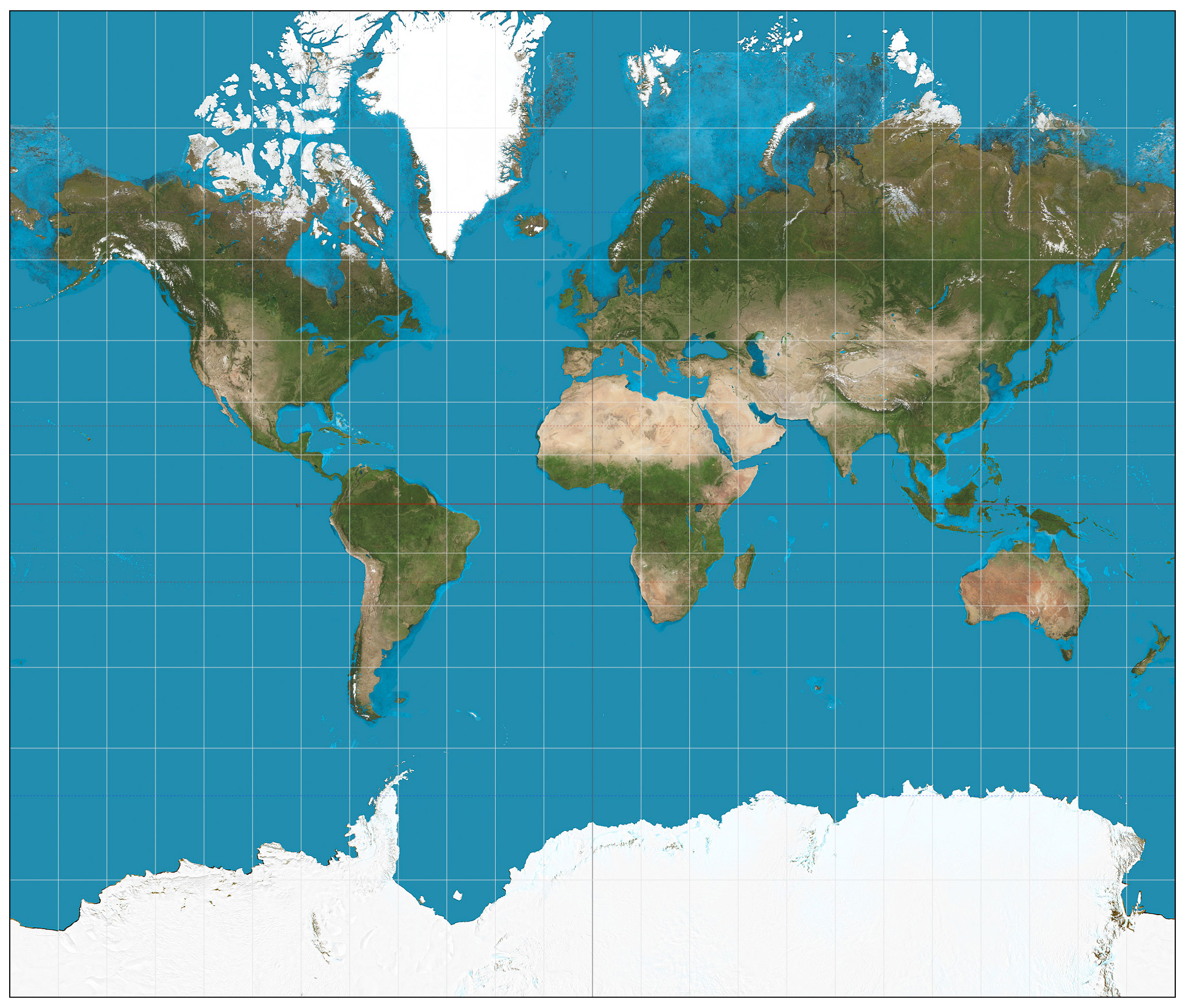 World satellite map Satellite map of the World Maps of all c