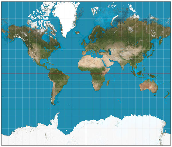World satellite map. Satellite map of the World.