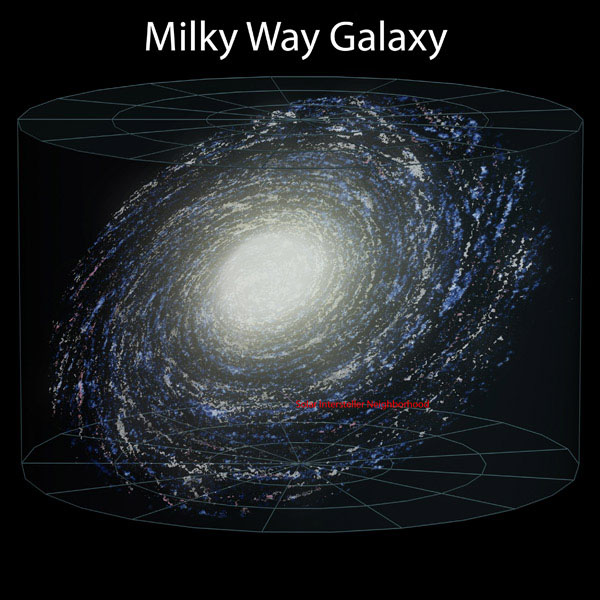 Large detailed map of the Milky Way.